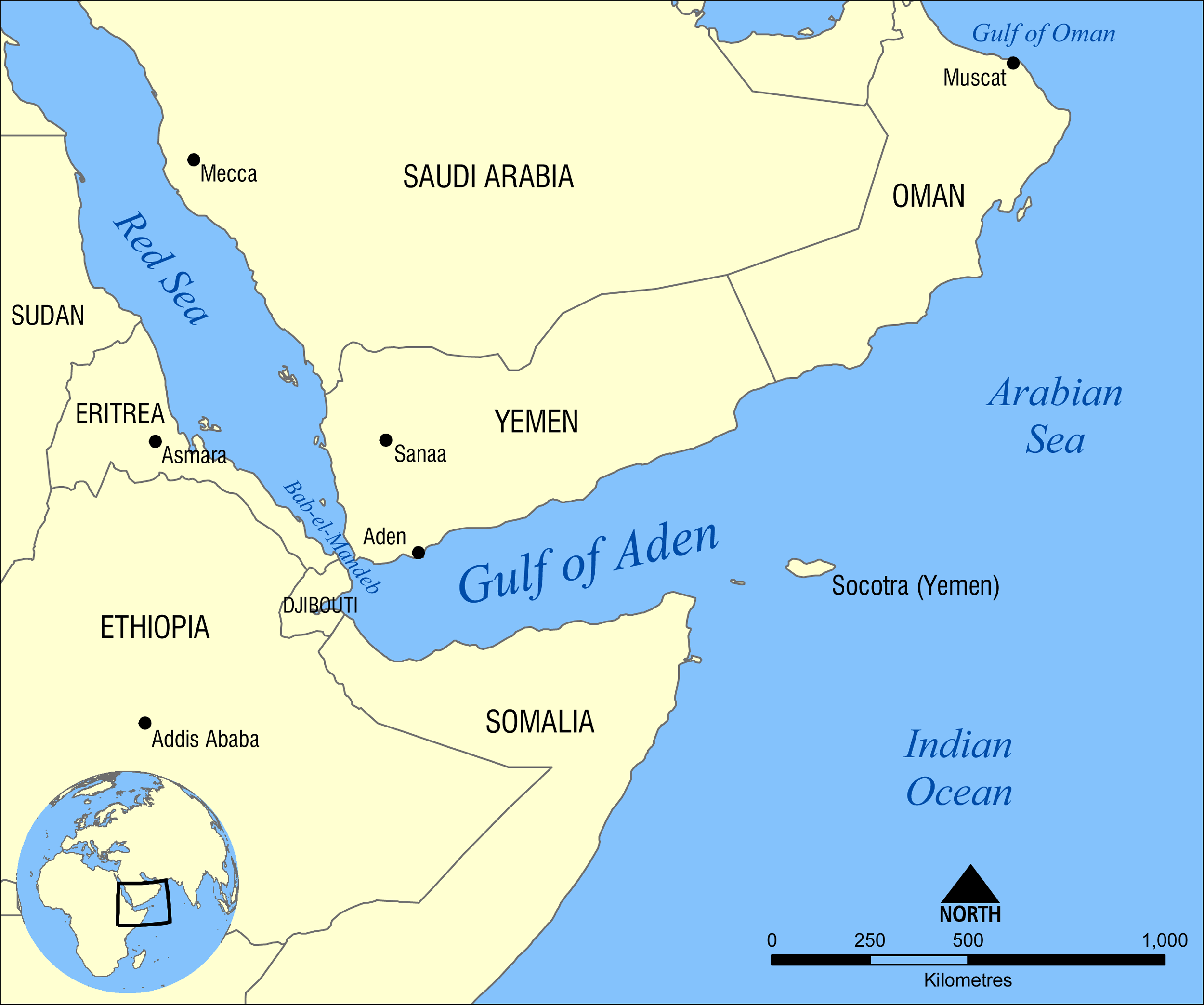 Map: Gulf of Aden