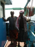 Merchant sailors of the boat Gambia. Djibouti to Aden. (January 2009)